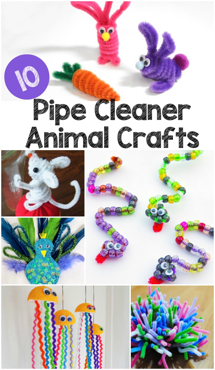 10 Pipe Cleaner Animals In The Playroom