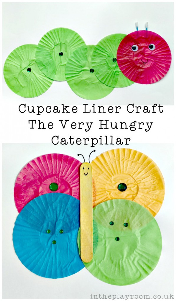 Cupcake Liner The Very Hungry Caterpillar Craft