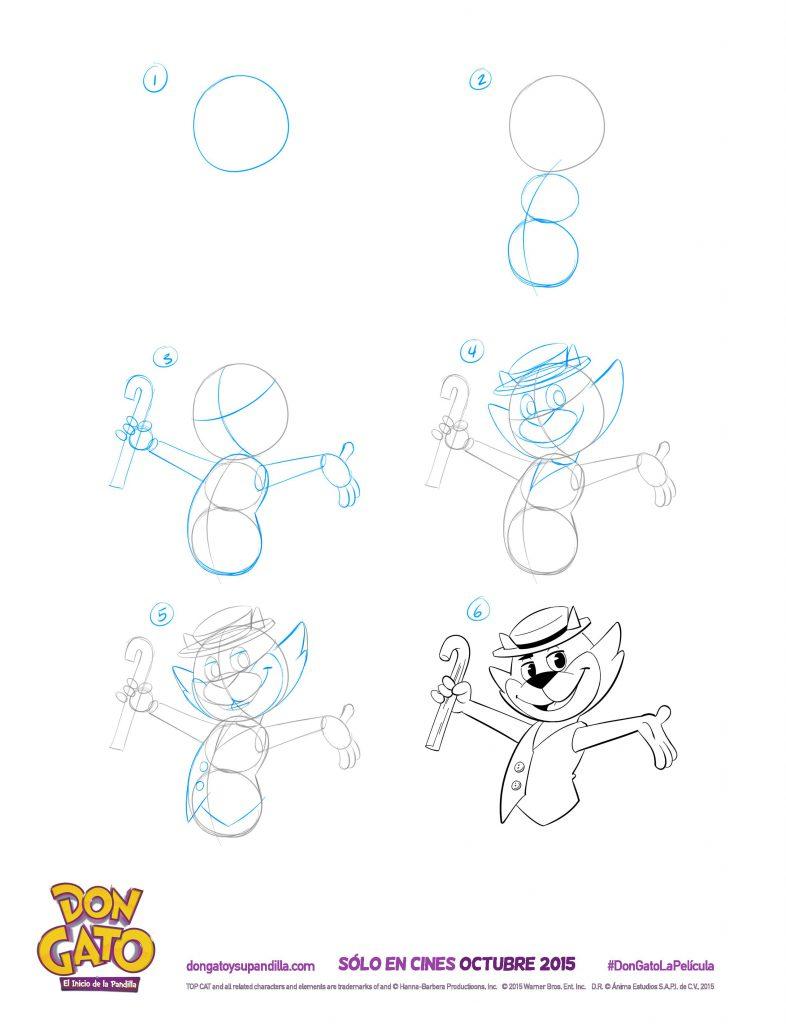 Top Cat Begins Character Drawing Tutorials
