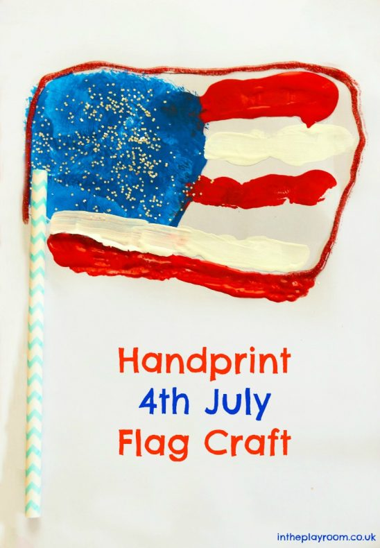 Handprint American Flag 4th of July Craft