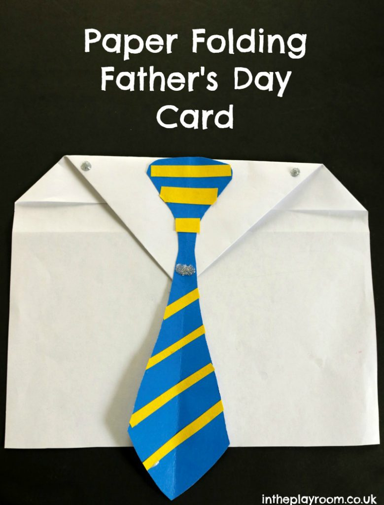 Origami Shirt & Tie Father's Day Card