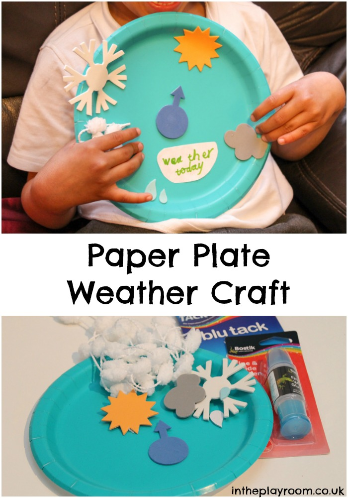 Paper Plate Weather Craft