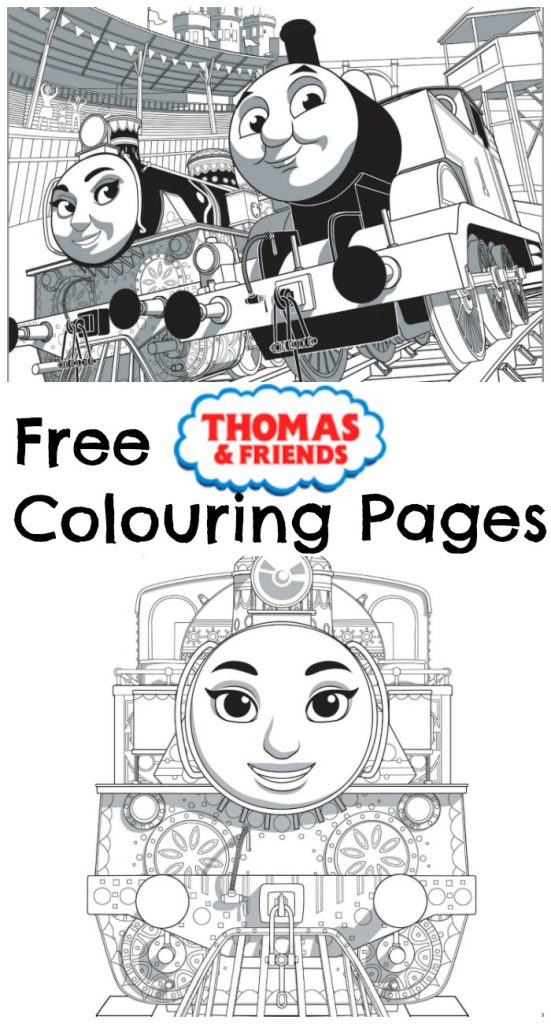 Thomas Amp Friends The Great Race Colouring Pages In The