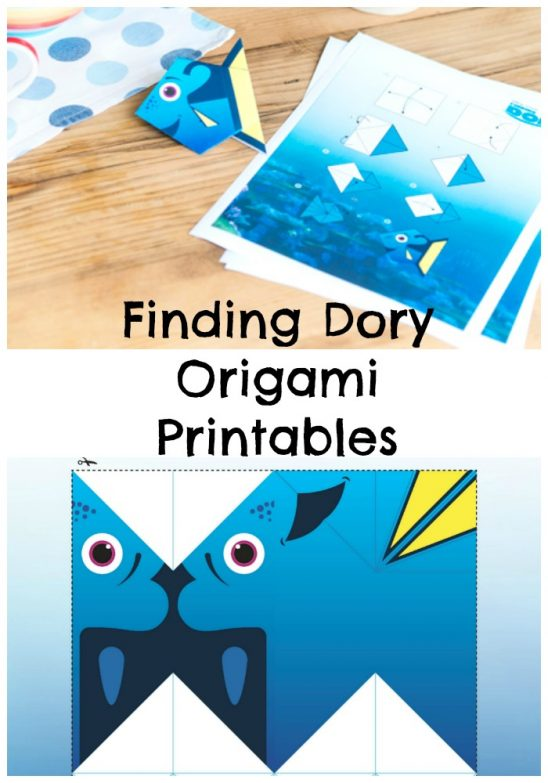 Finding Dory Origami Printable