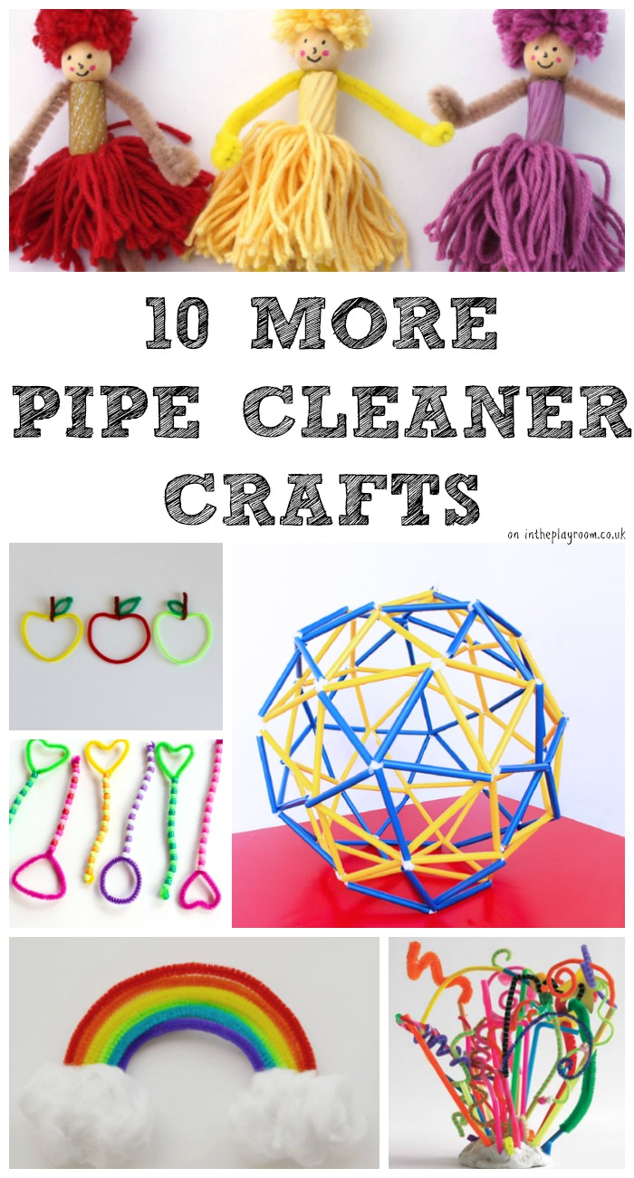 10 MORE Pipe Cleaner Crafts