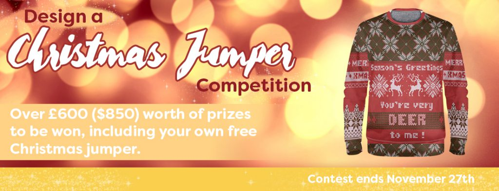 Design a Christmas Jumper and Win over £600 of Prizes!