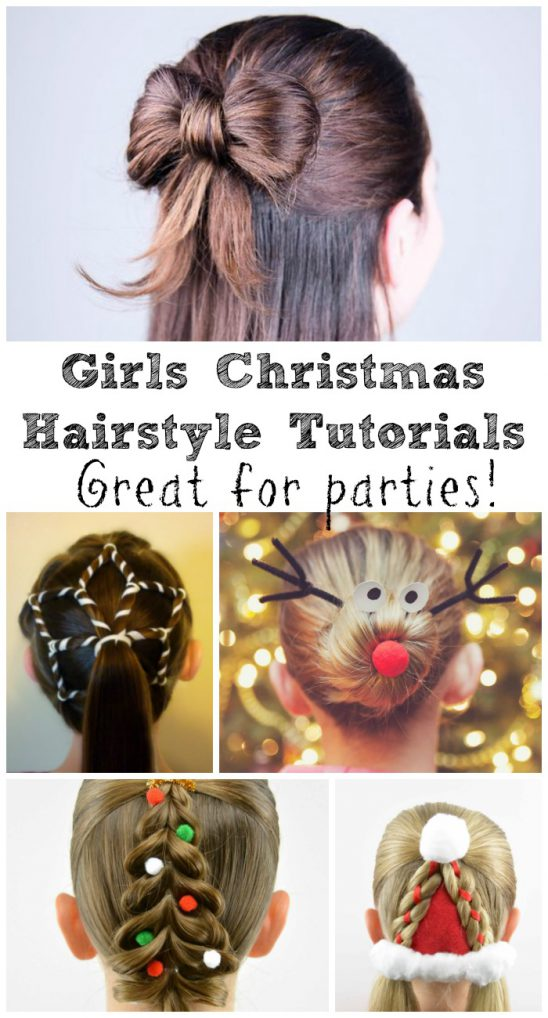 8 Festive Girls Christmas Hair Style Ideas with Tutorials