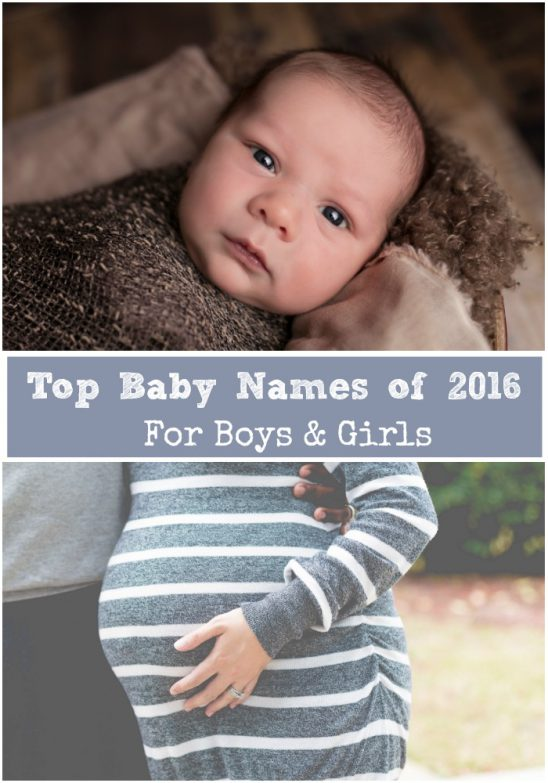 Top 100 Baby Names of 2016