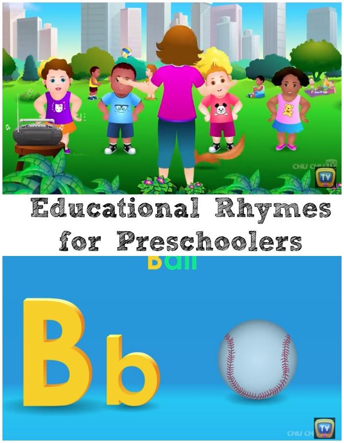 Rhymes which educate pre-schoolers