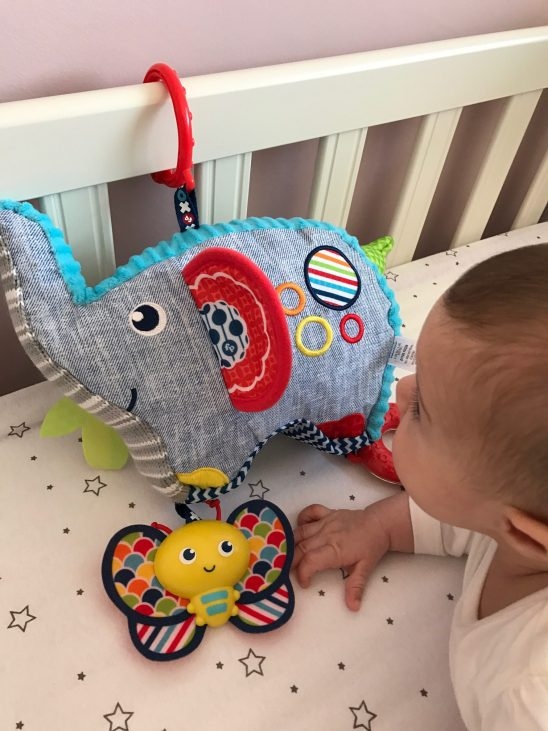 Trying out the new Jonathan Adler baby toy range for Fisher-Price