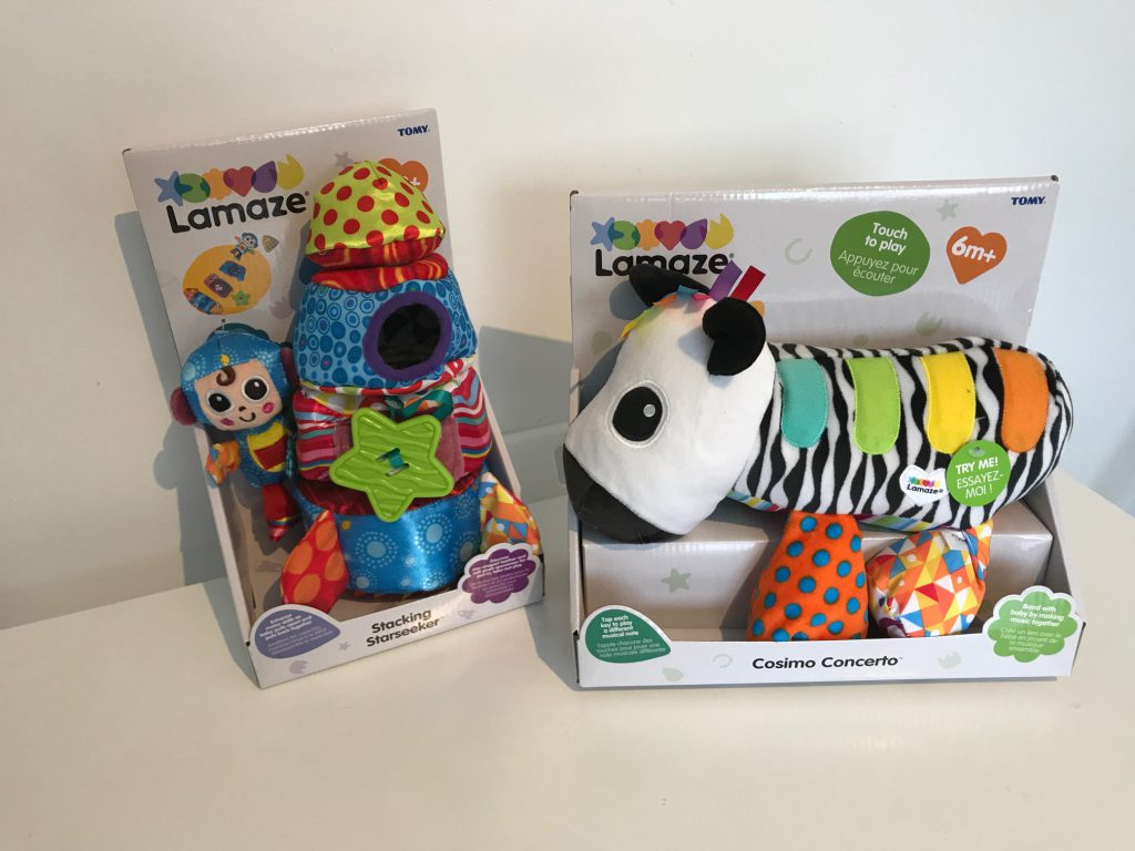 Lamaze Cosimo Concerto and Stacking Star Seeker.