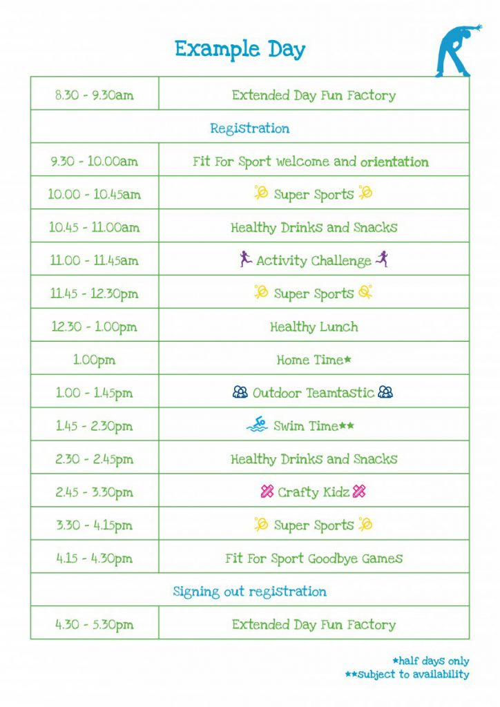 Fit For Sport Summer Activity Camps In The Playroom