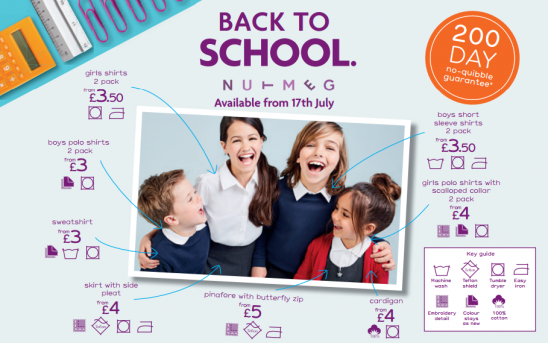 Get Kitted out for Back to School with Nutmeg at Morrisons
