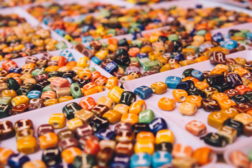 Types of beads used for making jewelry