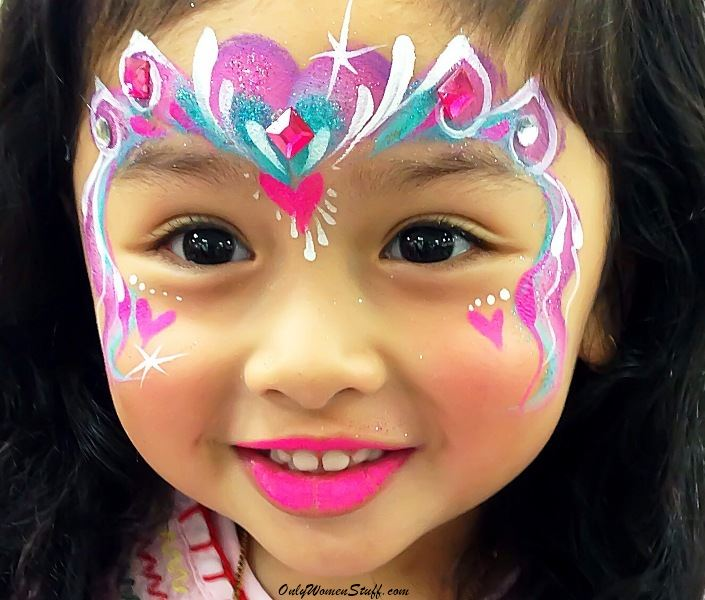 easy face painting designs - 705×600