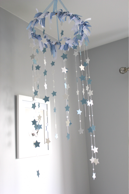 DIY Nursery Star Mobile