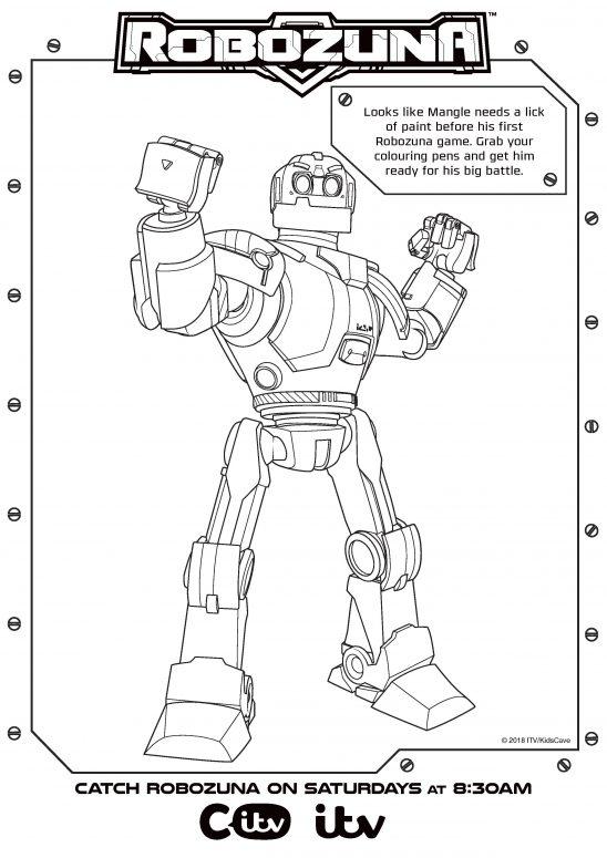 Robozuna Activity Sheets Printables