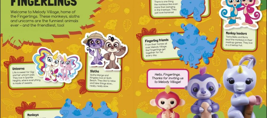 Fingerlings Sticker Book spread (DK)