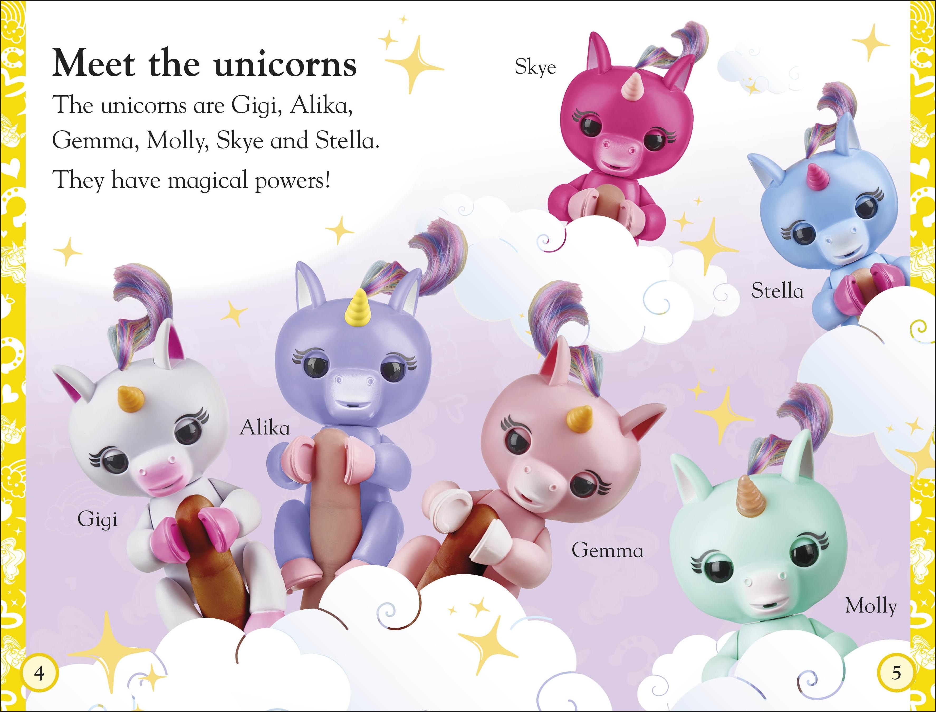 Fingerlings Unicorn Magic spread (DK)