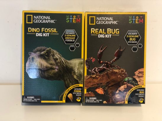 National Geographic STEM Sets: Dinosaur and Bug Dig Kits Review