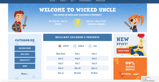 Fun & Unique Gifts for Kids from Wicked Uncle