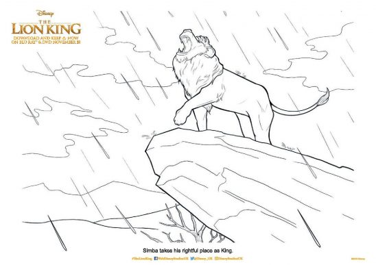 The Lion King Printable Colouring Pages and Activity Sheets