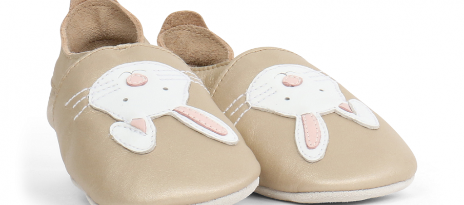 Bobux Soft Sole 'Rabbit' in gold - £22
